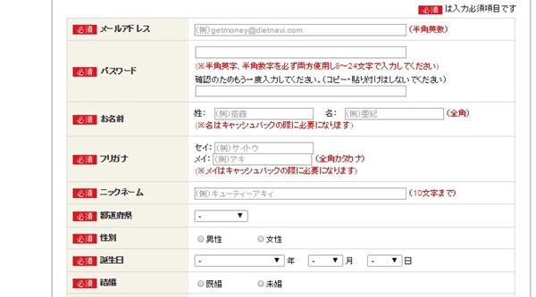 ゲットマネー 登録方法 登録できない1